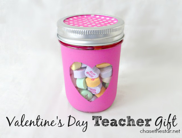 Mason Jar Valentine Gifts and Crafts   DIY Ideas for Valentines Day for Cute Gift Giving and Decor   Valentines Day Teachers Gift   #valentines