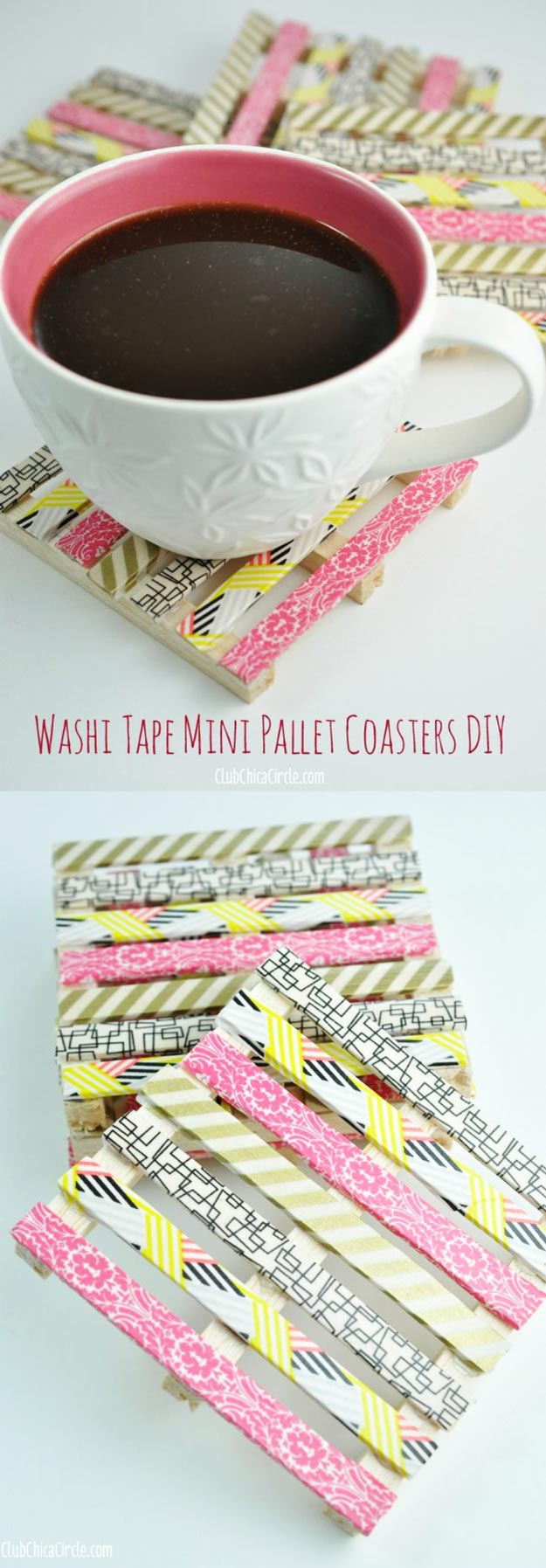 Cool DIY Ideas for Fun and Easy Crafts - DIY Donut Purse is a Cool Homemade Fashion Accessory - DIY Moon Pendant for Easy DIY Lighting in Teens Rooms - Dip Dyed String Wall Hanging - DIY Mini Easel Makes Fun DIY Room Decor Idea - Awesome Pinterest DIYs that Are Not Impossible To Make - Creative Do It Yourself Craft Projects for Adults, Teens and Tweens.Washi Tape Mini Wood Pallet Coasters - Easy DIY Ideas for Cheap Things To Sell on Etsy, Online and for Craft Fairs. http://diyprojectsforteens.com/fun-crafts-pinterest