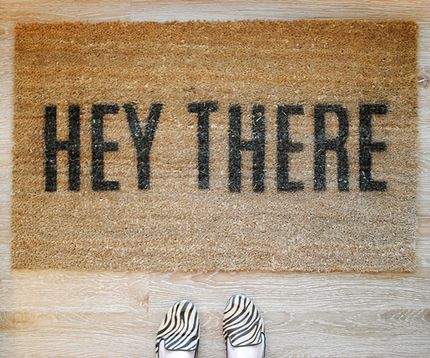 76 Crafts To Make and Sell - Easy DIY Ideas for Cheap Things To Sell on Etsy, Online and for Craft Fairs. Make Money with These Homemade Crafts for Teens, Kids, Christmas, Summer, Mother's Day Gifts.   Witty Welcome Doormat #crafts #diy