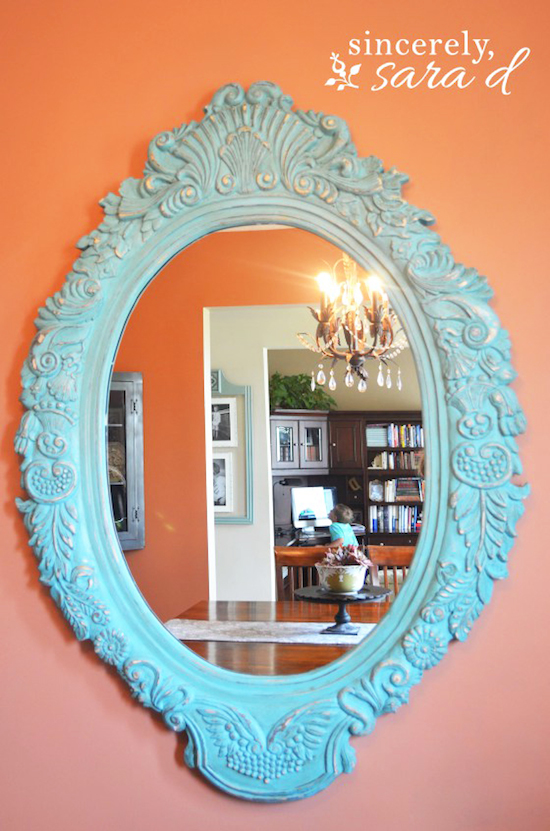 DIY Chalkboard Paint Ideas for Furniture Projects, Home Decor, Kitchen, Bedroom, Signs and Crafts for Teens. | Chalk Paint Mirror | http://diyjoy.com/diy-chalkboard-paint-ideas
