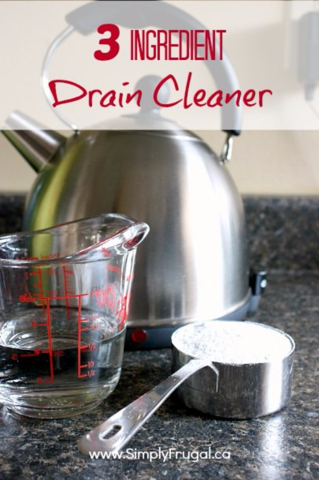 Best Natural Homemade DIY Cleaners and Recipes - 3 Ingredient Natural Drain Cleaner - All Purposed Home Care and Cleaning with Vinegar, Essential Oils and Other Natural Ingredients For Cleaning Bathroom, Kitchen, Floors, Laundry, Furniture and More
