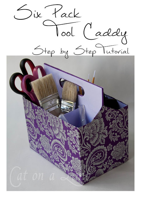 DIY Craft Room Ideas and Craft Room Organization Projects - 6 Pack Tool Caddy Organizer - Cool Ideas for Do It Yourself Craft Storage - fabric, paper, pens, creative tools, crafts supplies and sewing notions