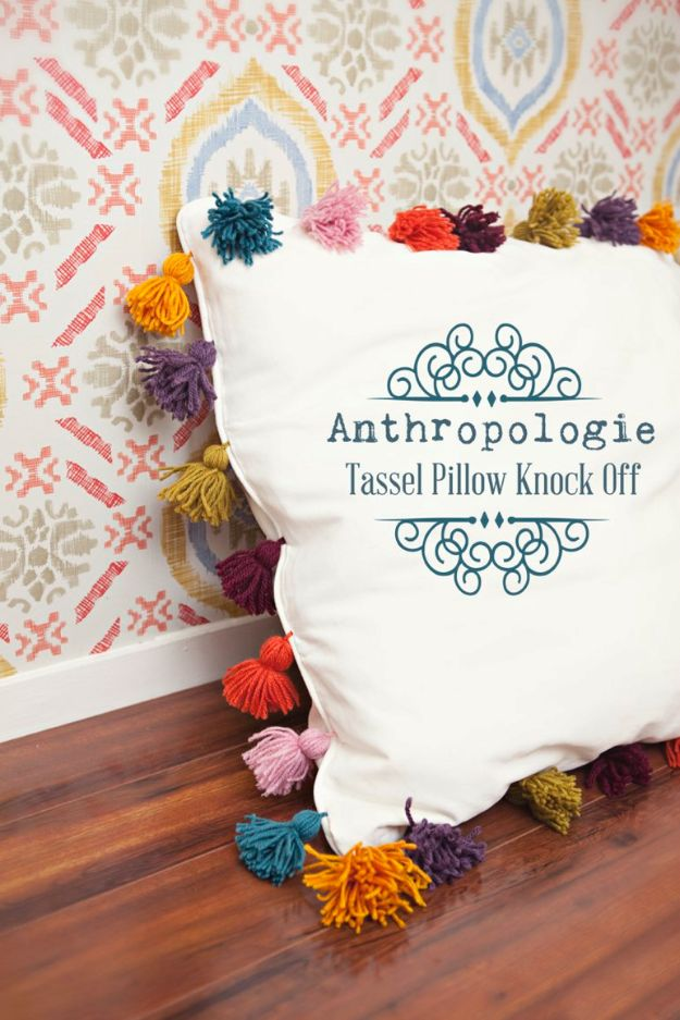Sewing Projects for The Home - Anthropologie Tassel Pillow Knock Off ...