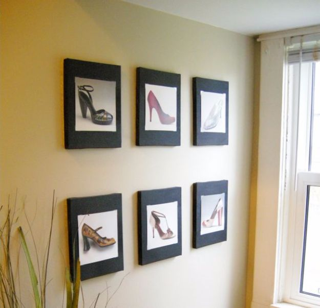 DIY Wall Art Ideas and Do It Yourself Wall Decor for Living Room, Bedroom, Bathroom, Teen Rooms | Calendar Pages Wall Art | Cheap Ideas for Those On A Budget. Paint Awesome Hanging Pictures With These Easy Step By Step Tutorial