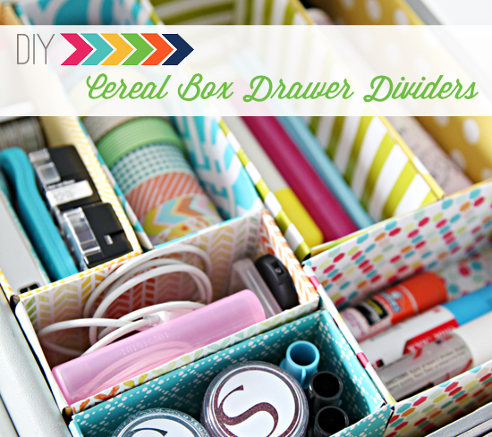 DIY Craft Room Ideas and Craft Room Organization Projects - Cereal Box Drawer Dividers - Cool Ideas for Do It Yourself Craft Storage - fabric, paper, pens, creative tools, crafts supplies and sewing notions