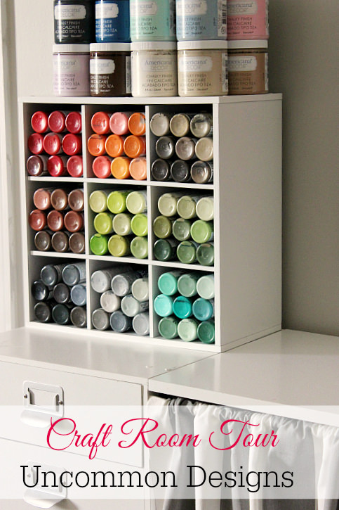 50 clever craft room organization ideas for Craft supplies organization ideas