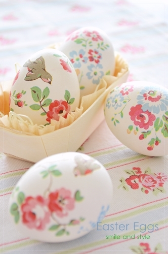 DIY Easter Decorations - Decor Ideas for the Home and Table - Cut out Paper Napkins Easter Egg Decor - Cute Easter Wreaths, Cheap and Easy Dollar Store Crafts for Kids. Vintage and Rustic Centerpieces and Mantel Decorations. http://diyjoy.com/diy-easter-decorations