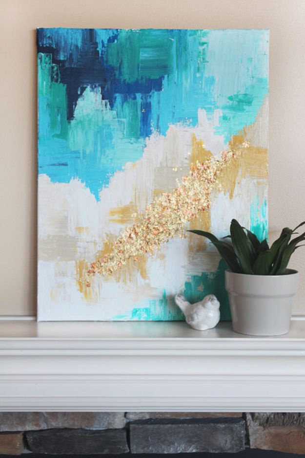 76 brilliant diy wall art ideas for your blank walls for Diy abstract acrylic painting