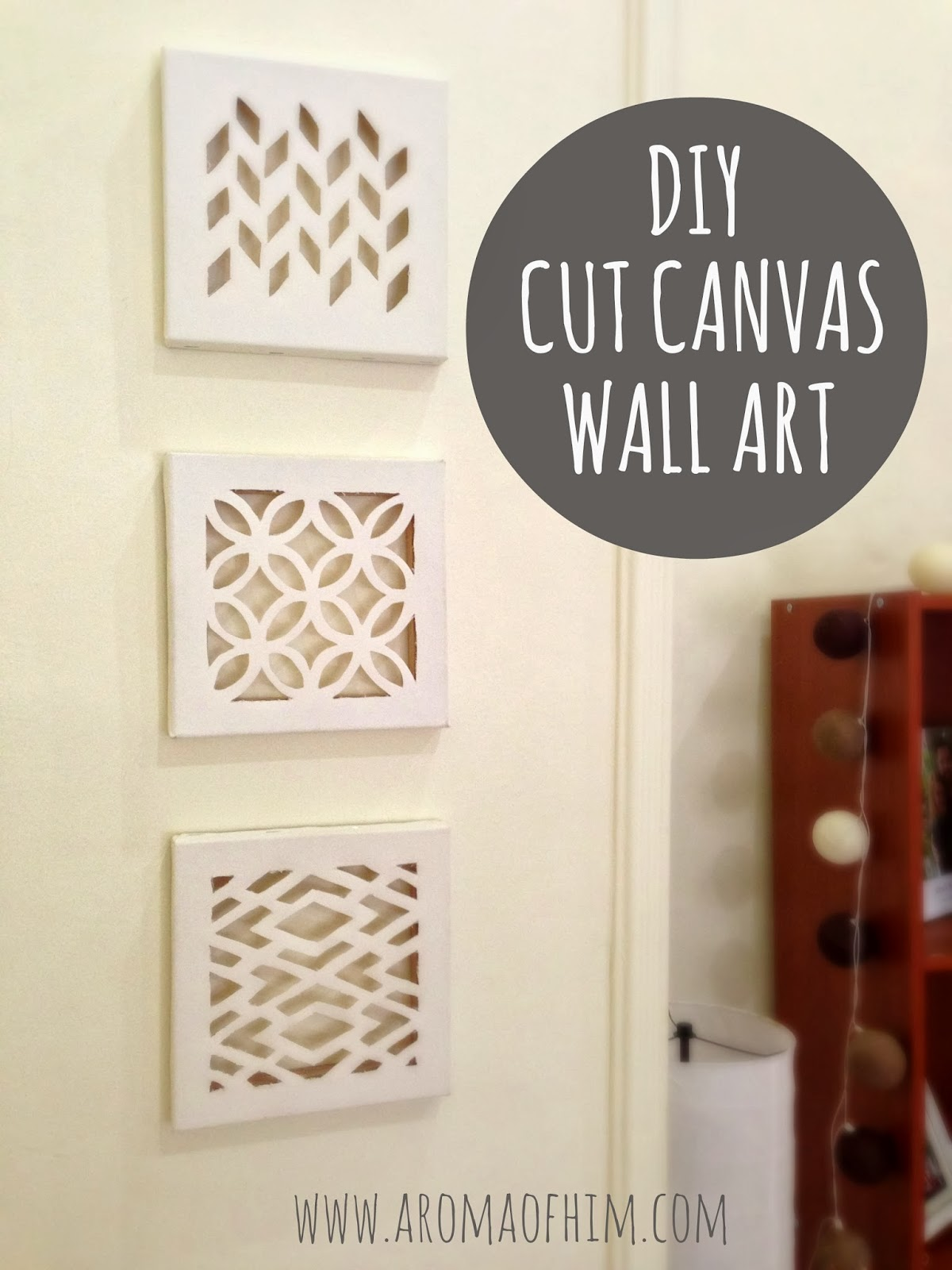 DIY Wall Art Ideas and Do It Yourself Wall Decor for Living Room, Bedroom, Bathroom, Teen Rooms | DIY Cut Canvas Wall Art | Cheap Ideas for Those On A Budget. Paint Awesome Hanging Pictures With These Easy Step By Step Tutorial