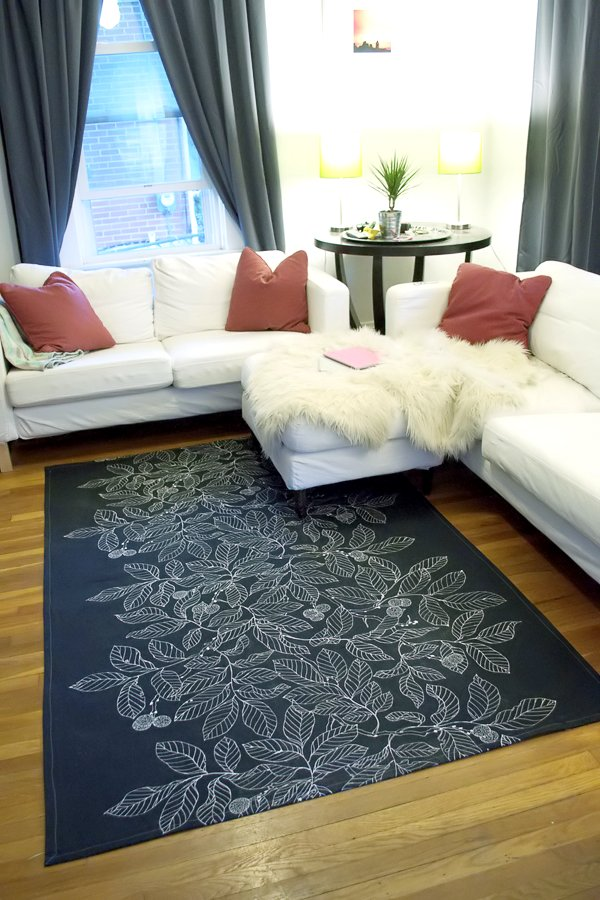 Sewing Projects for The Home - DIY Dropcloth Rug - Free DIY Sewing Patterns, Easy Ideas and Tutorials for Curtains, Upholstery, Napkins, Pillows and Decor #homedecor #diy #sewing