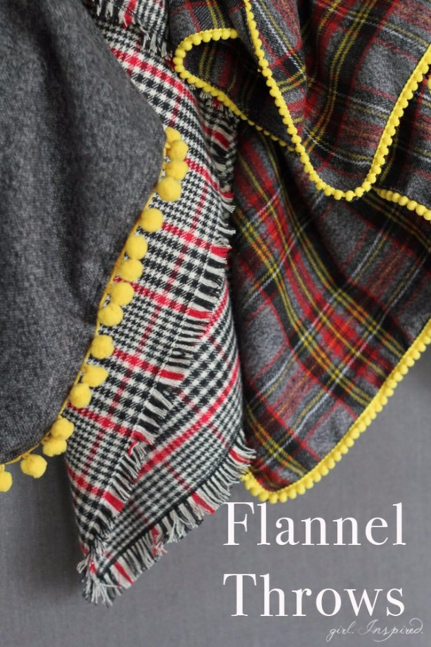 Sewing Projects for The Home - DIY Flannel Blankets - Free DIY Sewing Patterns, Easy Ideas and Tutorials for Curtains, Upholstery, Napkins, Pillows and Decor #homedecor #diy #sewing