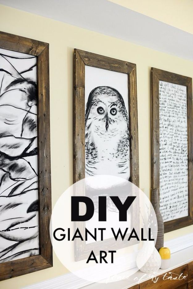 DIY Wall Art Ideas and Do It Yourself Wall Decor for Living Room, Bedroom, Bathroom, Teen Rooms | DIY Giant Wall Art | Cheap Ideas for Those On A Budget. Paint Awesome Hanging Pictures With These Easy Step By Step Tutorial