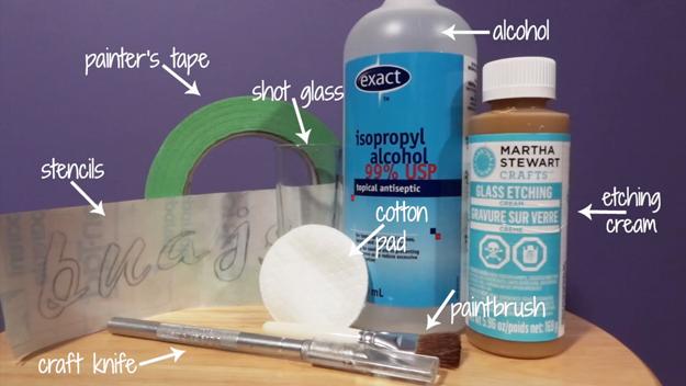 DIY-Glass-Etched-Shot-Glasses-materials