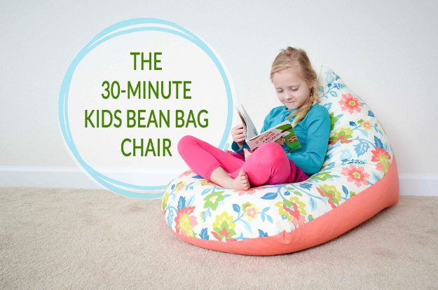 Sewing Projects for The Home - DIY Kids Bean Bag Chair in 30 Minutes - Free DIY Sewing Patterns, Easy Ideas and Tutorials for Curtains, Upholstery, Napkins, Pillows and Decor #homedecor #diy #sewing