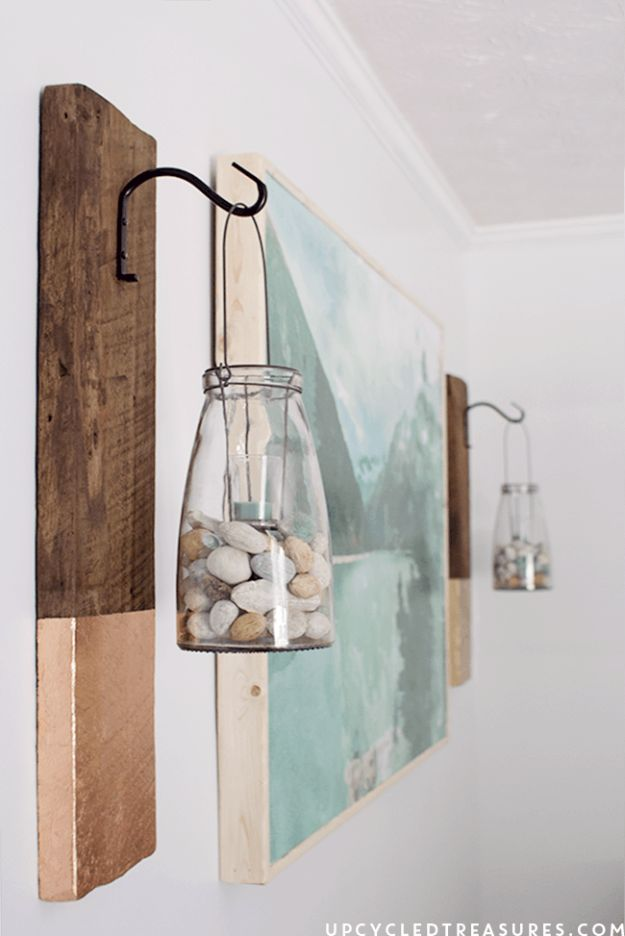 DIY Wall Art Ideas and Do It Yourself Wall Decor for Living Room, Bedroom, Bathroom, Teen Rooms | DIY Modern Rustic Wall Hanging | Cheap Ideas for Those On A Budget. Paint Awesome Hanging Pictures With These Easy Step By Step Tutorial