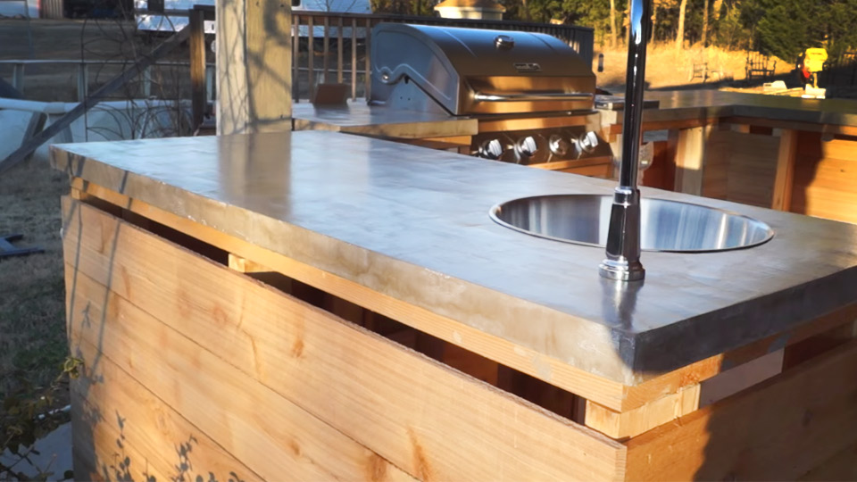 Diy Concrete Countertops Outdoor Kitchen