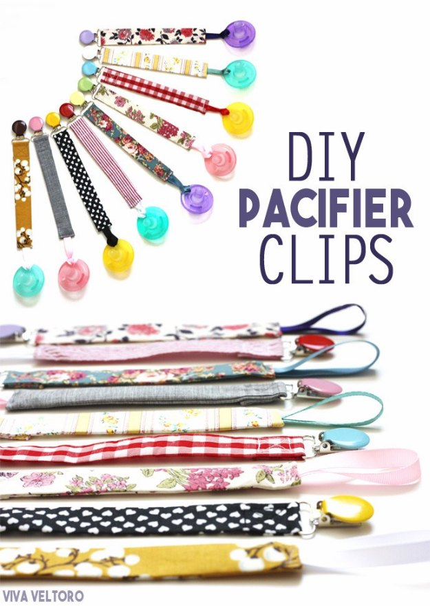 DIY Baby Gifts - DIY Pacifier Clips - Homemade Baby Shower Presents and Creative, Cheap Gift Ideas for Boys and Girls - Unique Gifts for the Mom and Dad to Be - Blankets, Baskets, Burp Cloths and Easy No Sew Projects #diybaby #babygifts #babyshower