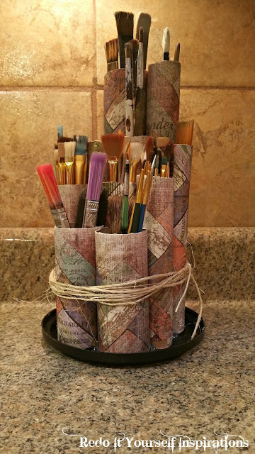 DIY Craft Room Ideas and Craft Room Organization Projects - DIY Paint Brush Holder - Cool Ideas for Do It Yourself Craft Storage - fabric, paper, pens, creative tools, crafts supplies and sewing notions
