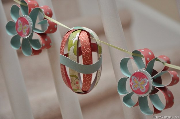 DIY Easter Decorations - Decor Ideas for the Home and Table - DIY Paper Flower & Easter Egg Garland - Cute Easter Wreaths, Cheap and Easy Dollar Store Crafts for Kids. Vintage and Rustic Centerpieces and Mantel Decorations. http://diyjoy.com/diy-easter-decorations