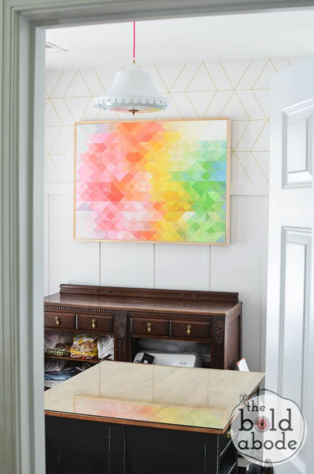 DIY Wall Art Ideas and Do It Yourself Wall Decor for Living Room, Bedroom, Bathroom, Teen Rooms | DIY Pixel Wall Art | Cheap Ideas for Those On A Budget. Paint Awesome Hanging Pictures With These Easy Step By Step Tutorial