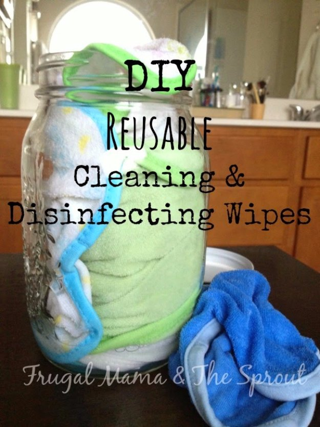 Best Natural Homemade DIY Cleaners and Recipes - DIY Reusable Disinfecting Cleaning Wipes - All Purposed Home Care and Cleaning with Vinegar, Essential Oils and Other Natural Ingredients For Cleaning Bathroom, Kitchen, Floors, Laundry, Furniture and More