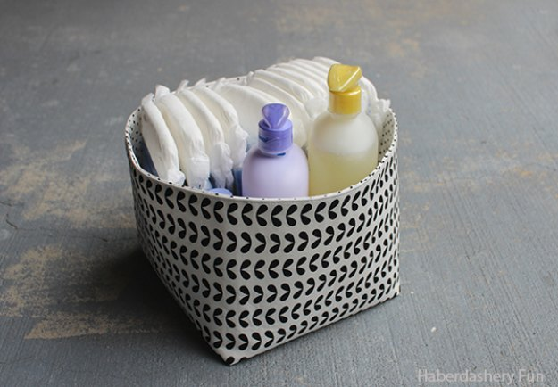 Sewing Projects For The Home   DIY Reversible Fabric Storage Bin   Free DIY Sewing  Patterns