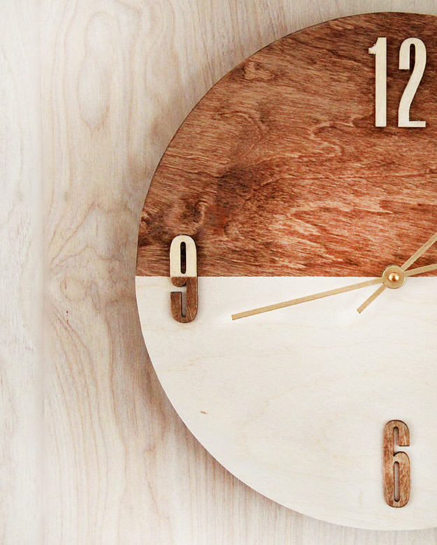 Expensive Looking DIY Wedding Gift Ideas - DIY Wood Stained Clock - Easy and Unique Homemade Gift Ideas for Bride and Groom - Cheap Presents You Can Make for the Couple- for the Home, From The Kids, Personalized Ideas for Parents and Bridesmaids #diywedding #weddinggifts #diygifts