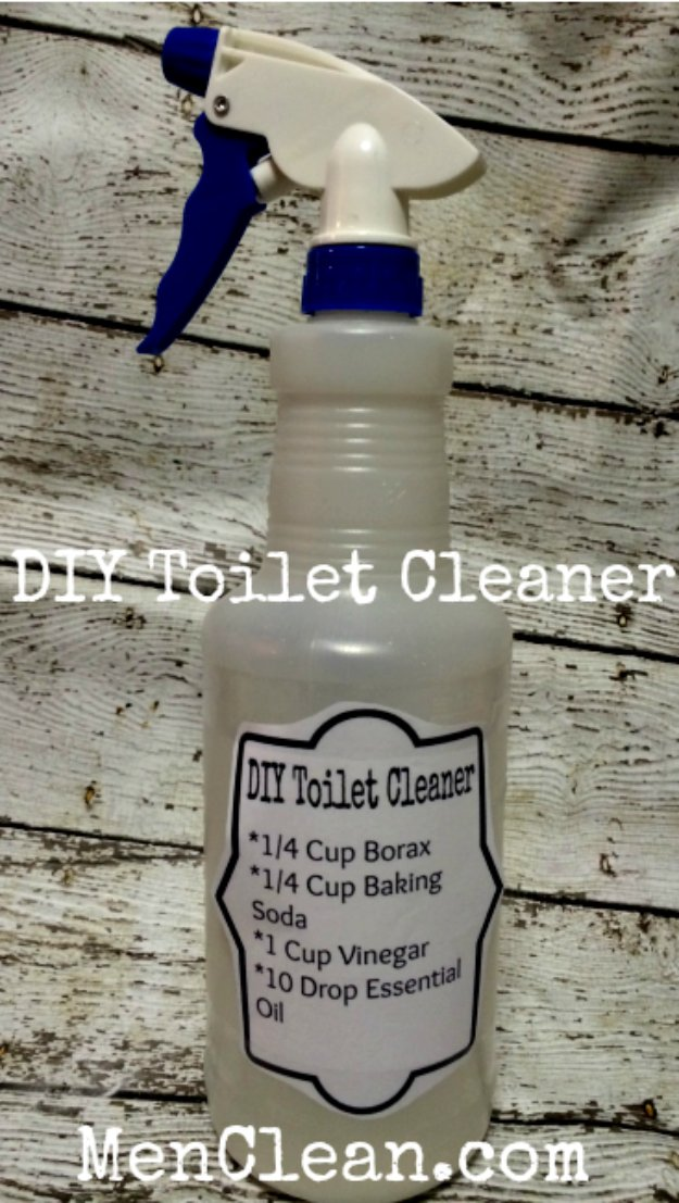 Best Natural Homemade DIY Cleaners and Recipes - DIY Toilet Cleaner Recipe - All Purposed Home Care and Cleaning with Vinegar, Essential Oils and Other Natural Ingredients For Cleaning Bathroom, Kitchen, Floors, Laundry, Furniture and More