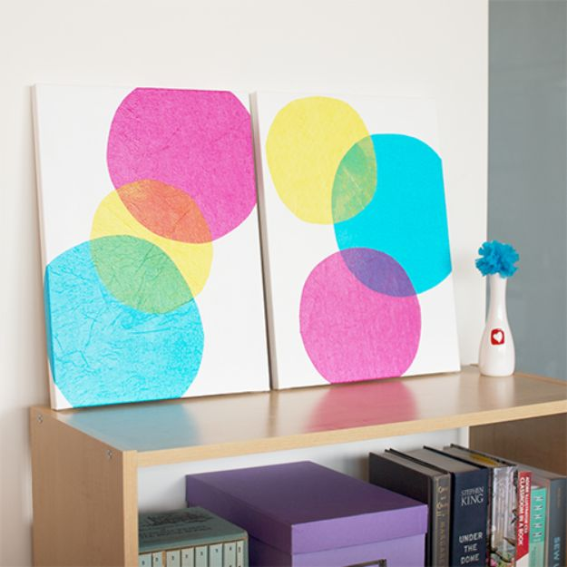 DIY Wall Art Ideas and Do It Yourself Wall Decor for Living Room, Bedroom, Bathroom, Teen Rooms | DIY Wall Art Bubbles | Cheap Ideas for Those On A Budget. Paint Awesome Hanging Pictures With These Easy Step By Step Tutorial