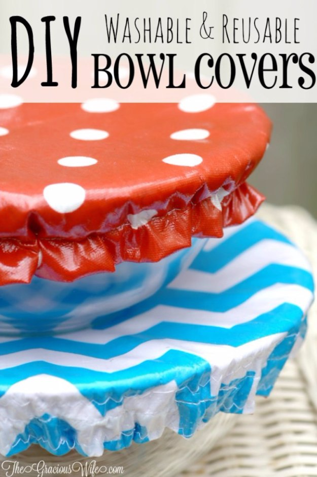 Sewing Projects for The Home - DIY Washable Reusable Bowl Covers - Free DIY Sewing Patterns, Easy Ideas and Tutorials for Curtains, Upholstery, Napkins, Pillows and Decor #homedecor #diy #sewing