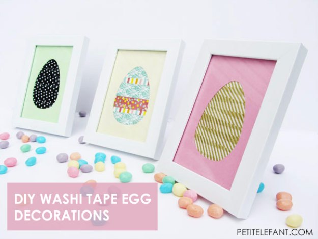 DIY Easter Decorations - Decor Ideas for the Home and Table - DIY Washi Tape Egg Decorations - Cute Easter Wreaths, Cheap and Easy Dollar Store Crafts for Kids. Vintage and Rustic Centerpieces and Mantel Decorations.