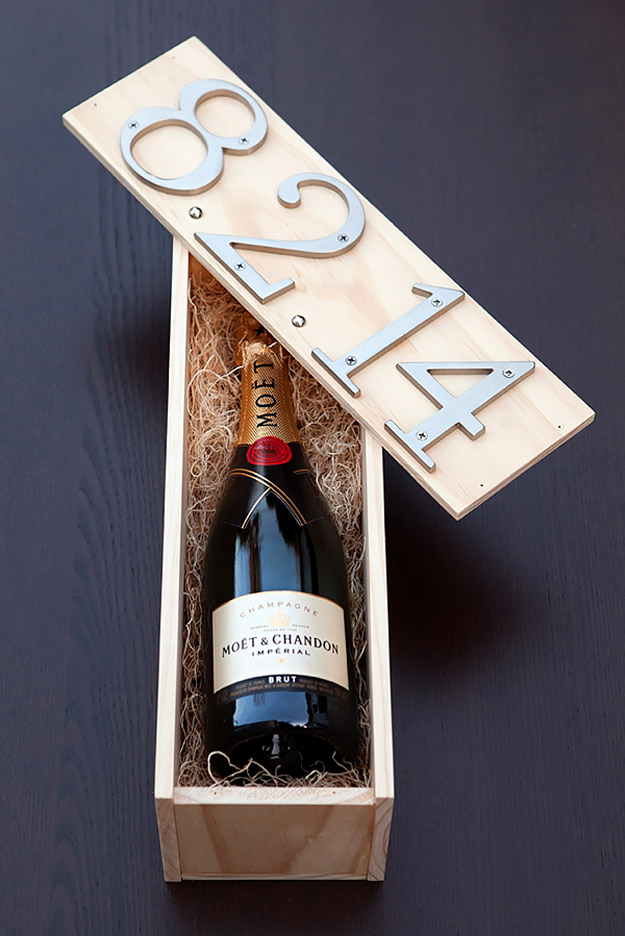 Expensive Looking DIY Wedding Gift Ideas - DIY Wedding Wine Box Gift - Easy and Unique Homemade Gift Ideas for Bride and Groom - Cheap Presents You Can Make for the Couple- for the Home, From The Kids, Personalized Ideas for Parents and Bridesmaids | http://diyjoy.com/cheap-diy-wedding-gifts