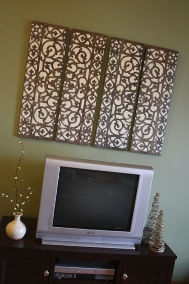 DIY Wall Art Ideas and Do It Yourself Wall Decor for Living Room, Bedroom, Bathroom, Teen Rooms | Doormat Wall Art | Cheap Ideas for Those On A Budget. Paint Awesome Hanging Pictures With These Easy Step By Step Tutorial