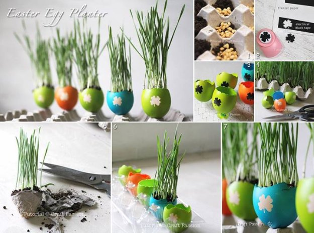 DIY Easter Decorations - Decor Ideas for the Home and Table - Easter Egg Planters - Cute Easter Wreaths, Cheap and Easy Dollar Store Crafts for Kids. Vintage and Rustic Centerpieces and Mantel Decorations.