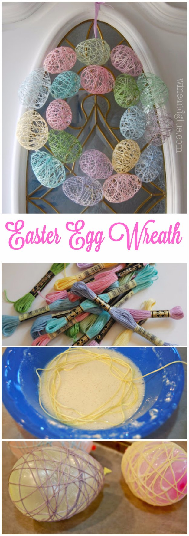 DIY Easter Decorations - Decor Ideas for the Home and Table - Easter Egg Wreath - Cute Easter Wreaths, Cheap and Easy Dollar Store Crafts for Kids. Vintage and Rustic Centerpieces and Mantel Decorations.