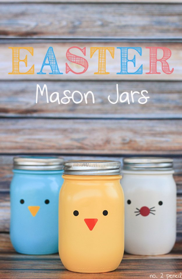 DIY Easter Decorations - Decor Ideas for the Home and Table - Easter Mason Jars Craft - Cute Easter Wreaths, Cheap and Easy Dollar Store Crafts for Kids. Vintage and Rustic Centerpieces and Mantel Decorations.