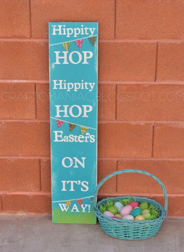 DIY Easter Decorations - Decor Ideas for the Home and Table - Easter Subway Art Sign - Cute Easter Wreaths, Cheap and Easy Dollar Store Crafts for Kids. Vintage and Rustic Centerpieces and Mantel Decorations.