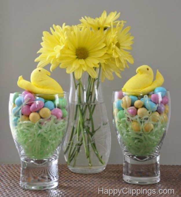 DIY Easter Decorations - Decor Ideas for the Home and Table - Easter Sweet Peeps - Cute Easter Wreaths, Cheap and Easy Dollar Store Crafts for Kids. Vintage and Rustic Centerpieces and Mantel Decorations.