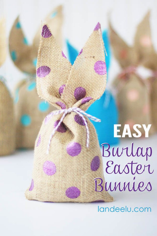 DIY Easter Decorations - Decor Ideas for the Home and Table - Easy Burlap Easter Bunnies - Cute Easter Wreaths, Cheap and Easy Dollar Store Crafts for Kids. Vintage and Rustic Centerpieces and Mantel Decorations.