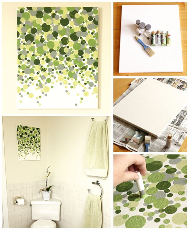 DIY Wall Art Ideas and Do It Yourself Wall Decor for Living Room, Bedroom, Bathroom, Teen Rooms | Easy DIY Shades of Geen Circles Wall Art | Cheap Ideas for Those On A Budget. Paint Awesome Hanging Pictures With These Easy Step By Step Tutorial