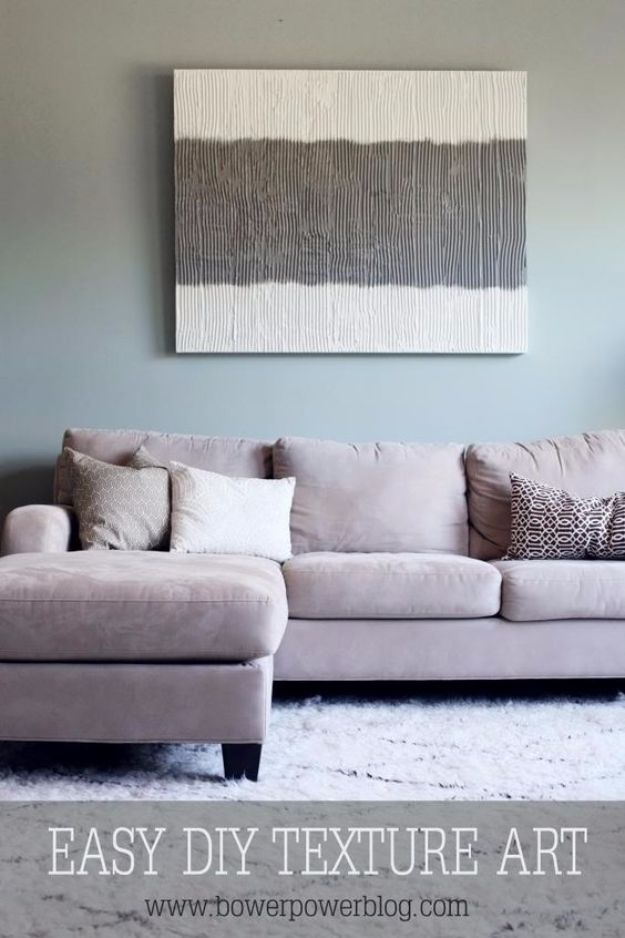 DIY Wall Art Ideas and Do It Yourself Wall Decor for Living Room, Bedroom, Bathroom, Teen Rooms | Easy DIY Texture Art | Cheap Ideas for Those On A Budget. Paint Awesome Hanging Pictures With These Easy Step By Step Tutorial