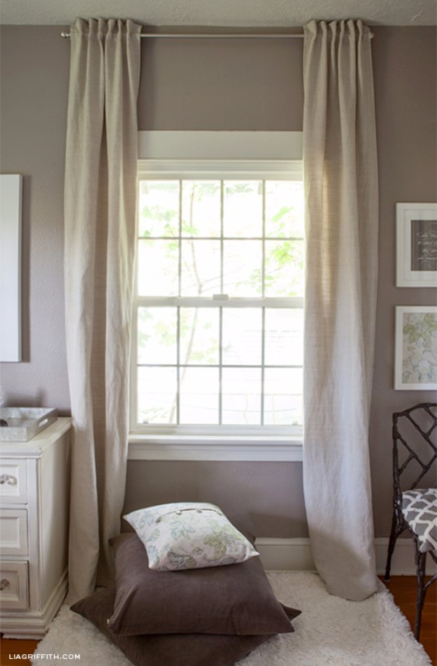 Sewing Projects for The Home - Easy to Make Back Tab Curtains - Free DIY Sewing Patterns, Easy Ideas and Tutorials for Curtains, Upholstery, Napkins, Pillows and Decor #homedecor #diy #sewing