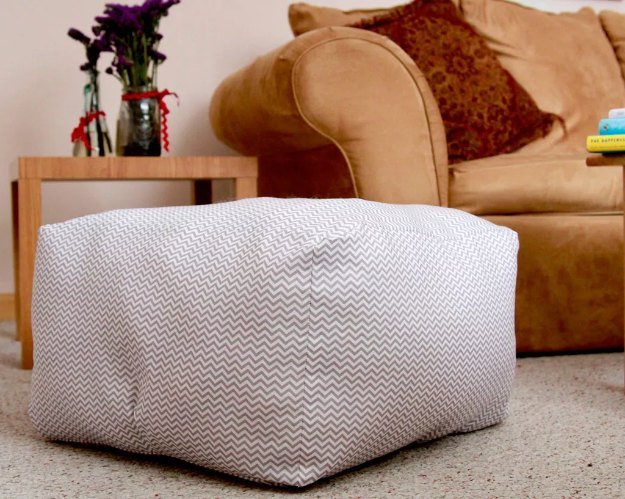 Sewing Projects for The Home - Floor Pillow Poufs - Free DIY Sewing Patterns, Easy Ideas and Tutorials for Curtains, Upholstery, Napkins, Pillows and Decor #homedecor #diy #sewing