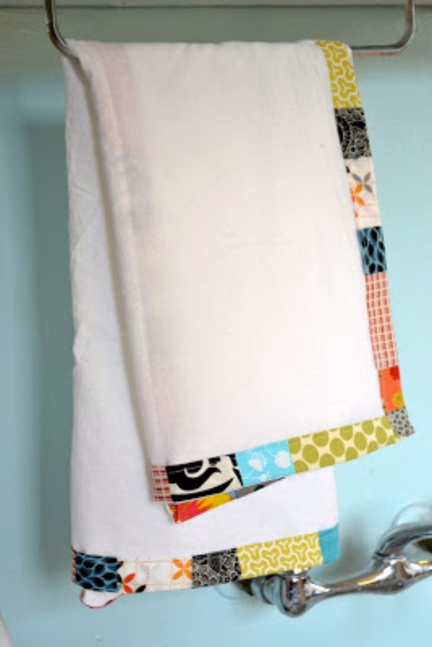 Sewing Projects for The Home - Flour Sack Dish Towels - Free DIY Sewing Patterns, Easy Ideas and Tutorials for Curtains, Upholstery, Napkins, Pillows and Decor #homedecor #diy #sewing