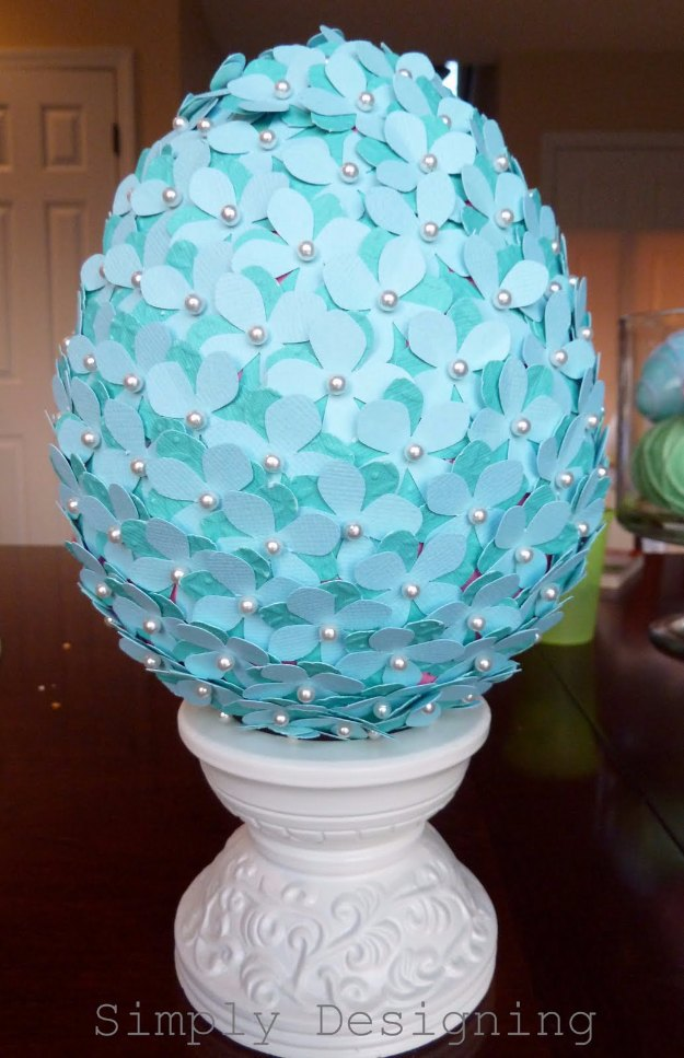 DIY Easter Decorations - Decor Ideas for the Home and Table - Flowered Egg Topiary - Cute Easter Wreaths, Cheap and Easy Dollar Store Crafts for Kids. Vintage and Rustic Centerpieces and Mantel Decorations. http://diyjoy.com/diy-easter-decorations