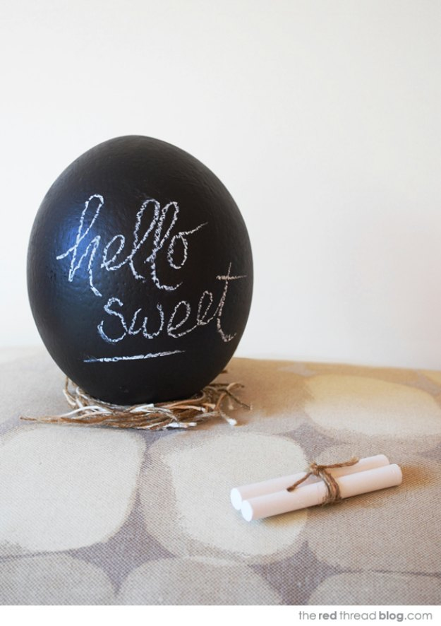 DIY Easter Decorations - Decor Ideas for the Home and Table - Giant Chalkboard Eggs - Cute Easter Wreaths, Cheap and Easy Dollar Store Crafts for Kids. Vintage and Rustic Centerpieces and Mantel Decorations. http://diyjoy.com/diy-easter-decorations