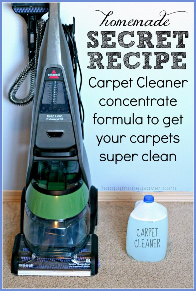 Best Natural Homemade DIY Cleaners and Recipes - Homemade Carpet Cleaning Solution Secret Recipe - All Purposed Home Care and Cleaning with Vinegar, Essential Oils and Other Natural Ingredients For Cleaning Bathroom, Kitchen, Floors, Laundry, Furniture and More