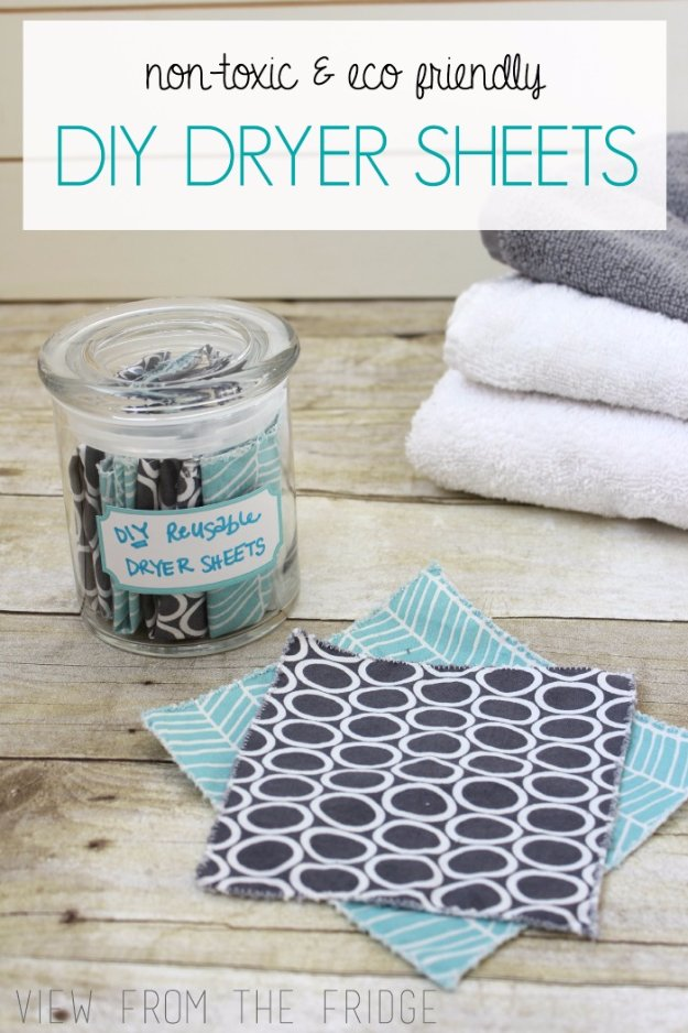 Best Natural Homemade DIY Cleaners and Recipes - Homemade Dryer Sheets Recipe - All Purposed Home Care and Cleaning with Vinegar, Essential Oils and Other Natural Ingredients For Cleaning Bathroom, Kitchen, Floors, Laundry, Furniture and More