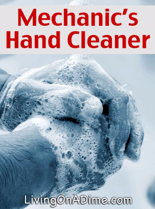 Best Natural Homemade DIY Cleaners and Recipes - Homemade Mechanic's Tough Hand Cleaner Recipe - All Purposed Home Care and Cleaning with Vinegar, Essential Oils and Other Natural Ingredients For Cleaning Bathroom, Kitchen, Floors, Laundry, Furniture and More