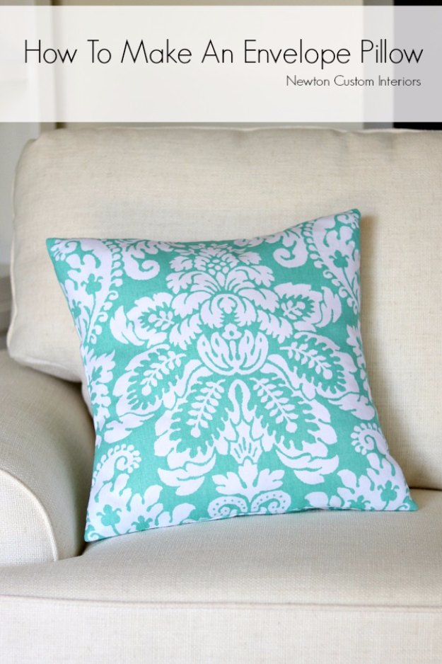 Sewing Projects for The Home - How To Make An Envelope Pillow - Free DIY Sewing Patterns, Easy Ideas and Tutorials for Curtains, Upholstery, Napkins, Pillows and Decor #homedecor #diy #sewing